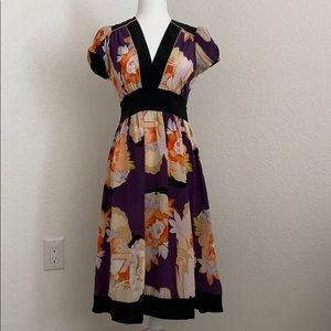 Silk Floral Corey Lynn Calter Midi Dress size 4